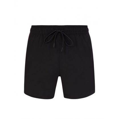 Black Doku Swim Shorts & Towel Beach Set