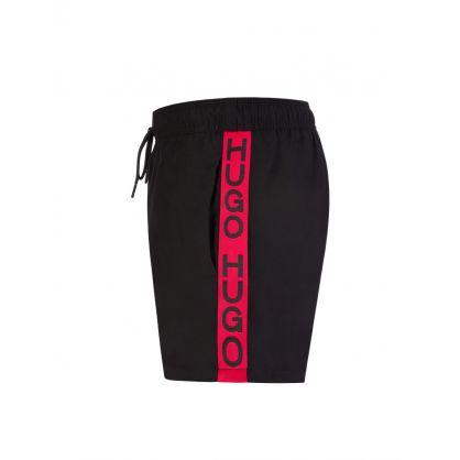 Black Doku Swim Shorts & Towel Beach Set
