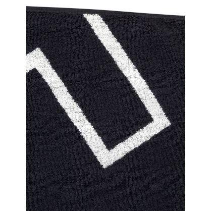 Black SAN Woven Beach Towel