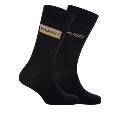 Black 2-Pack Socks Gift Set