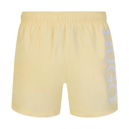 Pastel Yellow Abas Swim Shorts