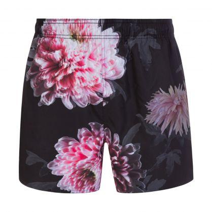 Black Dahlio Reversible Swim Shorts
