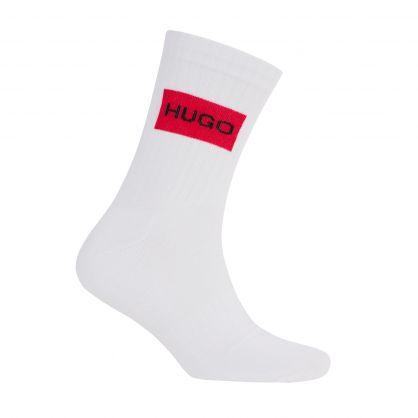 White Quarter-Length Logo Sports Socks 2-Pack
