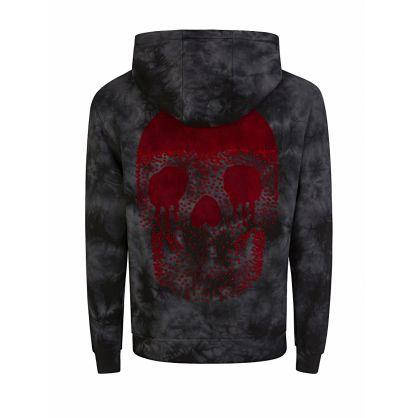 Black Tie-Dye Skull Mystery Hoodie