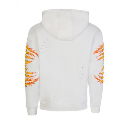 """Off White Oversized """"Hac on Fire"""" Hoodie"""