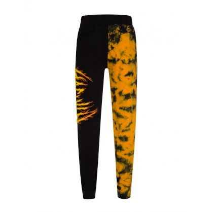 Black Flames Knit Sweatpants
