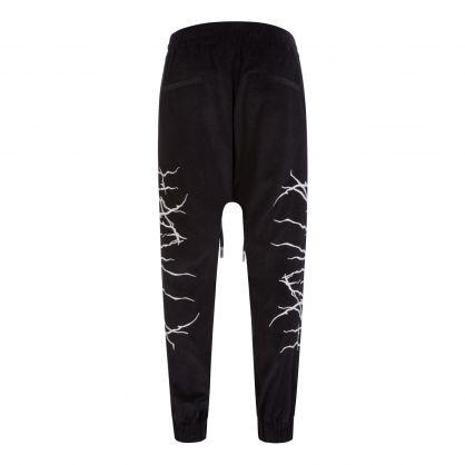 Black 'Fallen Angel' Drop Pants