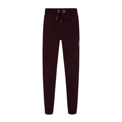 Burgundy Patch Sweatpants