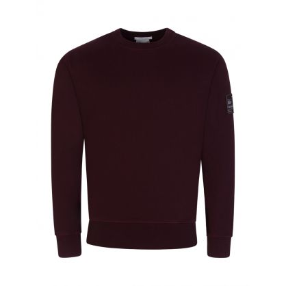 Burgundy Patch Sweatshirt
