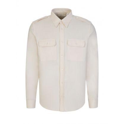 Cream Strap Shirt