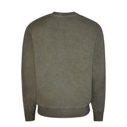 Green Military Garment Dyed Sweatshirt