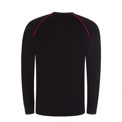 Black Raglan Sleeve Sweatshirt