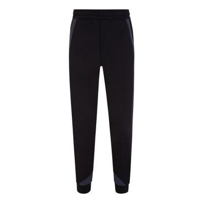 Black/Navy Panel Sweatpants