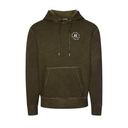 Green Garment Dyed Terry Hoodie