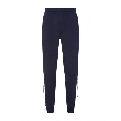Navy Laced Sweatpants