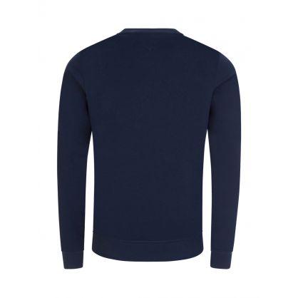 Navy Logo Tape Lounge Sweatshirt