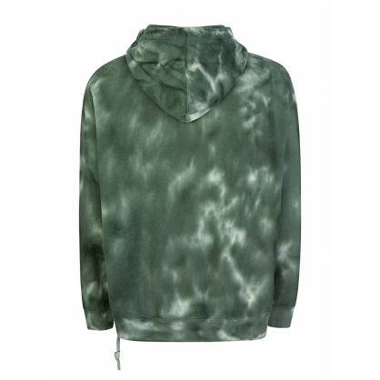 Green Super Nature Tie-Dye Hoodie