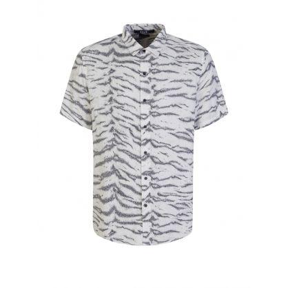 White Short-Sleeve Riot Shirt