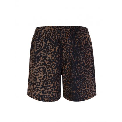 Brown Leopard-Print Prowler Boardshorts