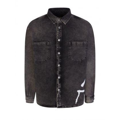 Black Dillon Charred Overshirt
