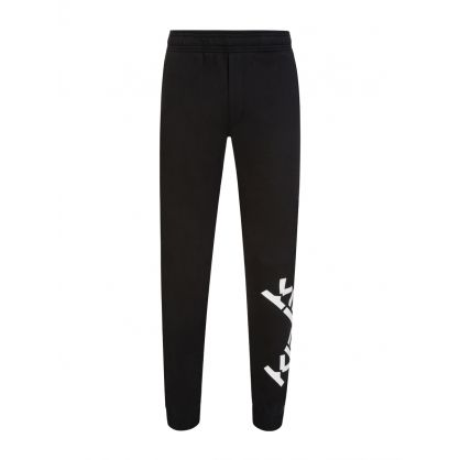 Black Cross Logo Sports Sweatpants
