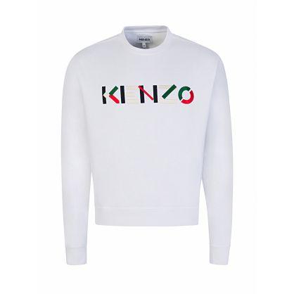White Letter Logo Sweatshirt