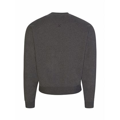 Grey Multicolour Letter Logo Sweatshirt