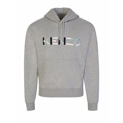 Grey Letter Logo Popover Hoodie
