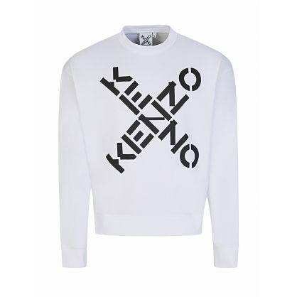 White Cross Logo Sports Sweatshirt