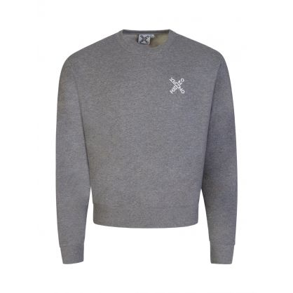 Grey Cross Logo Crew Neck Sweatshirt