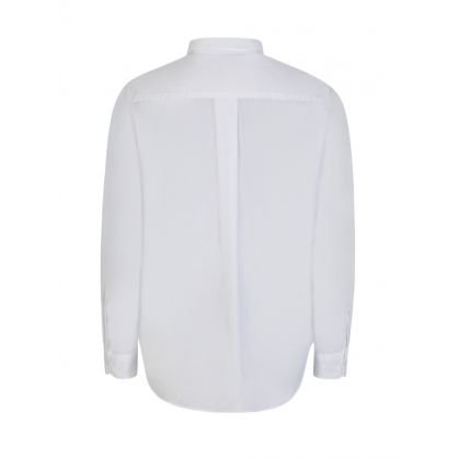 White Tiger Head Poplin Shirt