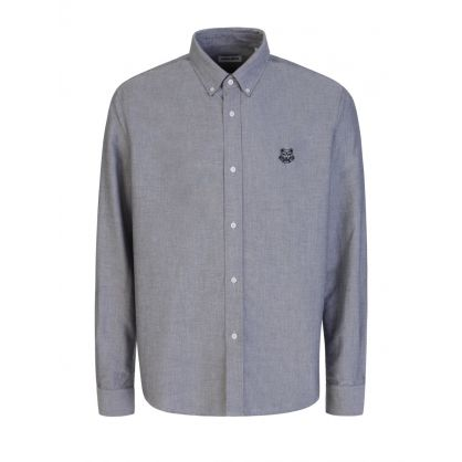 Grey Tiger Head Oxford Shirt