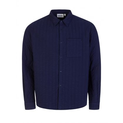 Navy 'Cheetah' Quilted Shirt