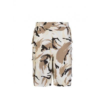 Cream 'Tropic Camo' Cargo Shorts