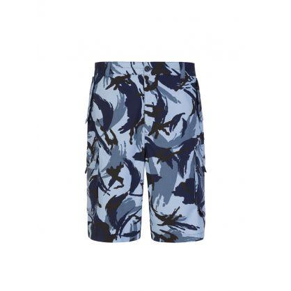 Blue Tropic Camo Cargo Shorts