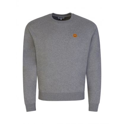 Grey Tiger Crest Sweatshirt