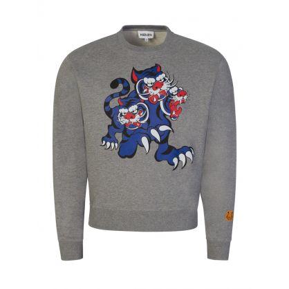 x Kansai Yamamoto Grey Three Tigers Sweatshirt