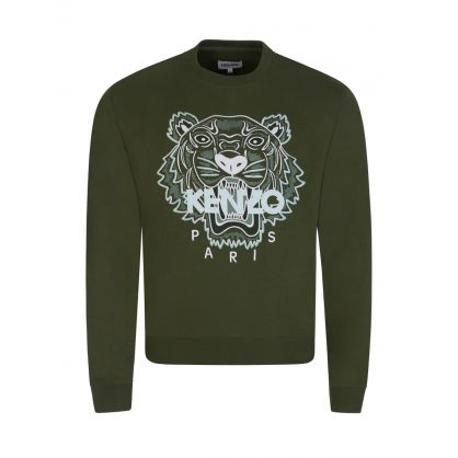 Green Tiger Head Logo Sweatshirt
