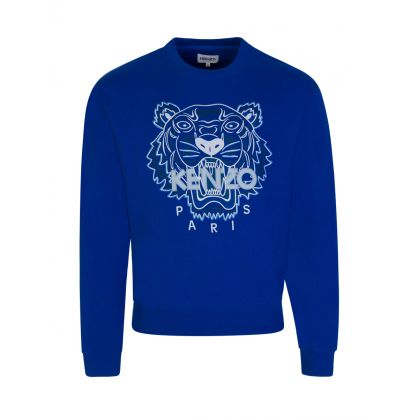 Blue Tiger Head Logo Sweatshirt
