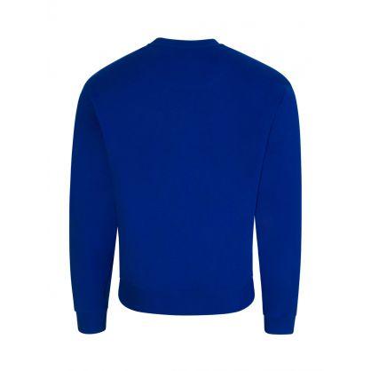 Blue Tiger Head Logo Sweatshirt
