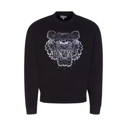 Black Gradient Tiger Classic Sweatshirt