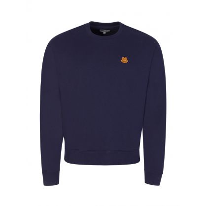 Navy Tiger Crest Sweatshirt