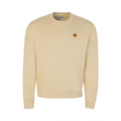 Beige Tiger Crest Sweatshirt