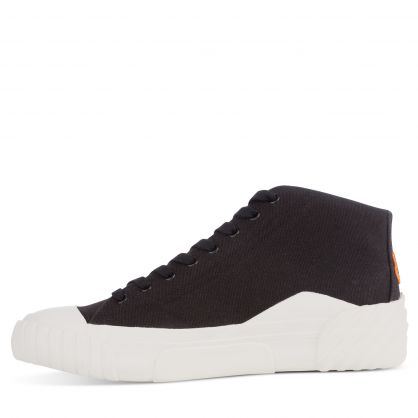 Black Tiger Crest High-Top Trainers