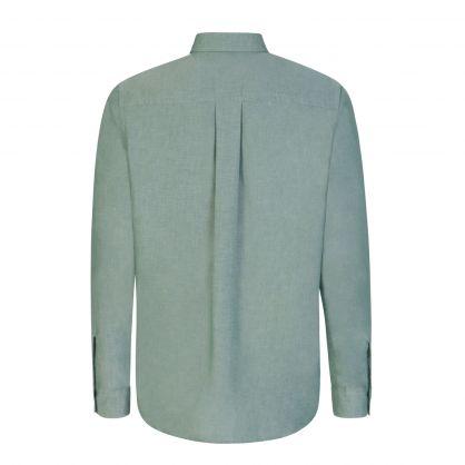 Green Tiger Crest Casual Shirt