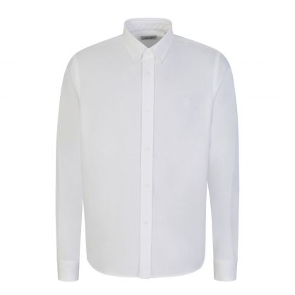White Tiger Crest Casual Shirt