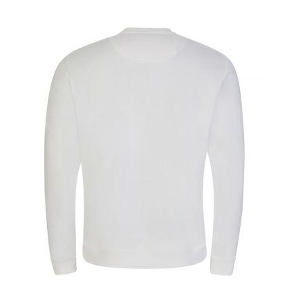 White Embroidered Tiger Logo Sweatshirt