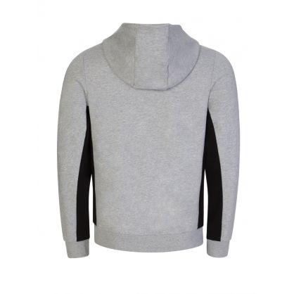 Grey Colour-Block Fleece Hooded Zip-Through