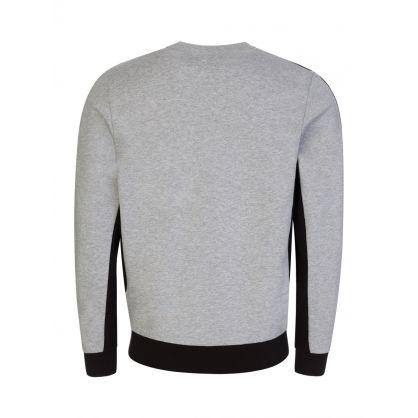 Grey Colour-Block Fleece Sweatshirt
