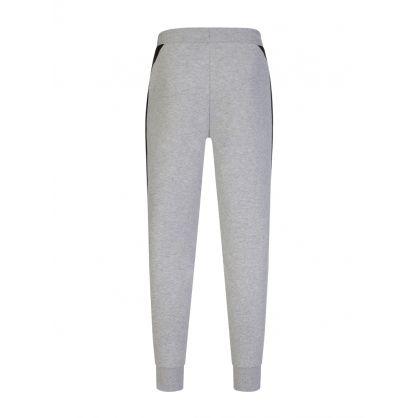 Grey Contrast Accents Fleece Tracksuit Sweatpants